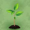 Vintage-Hintergrund mit grünen Pflanzen