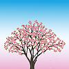 Schöner Frühling Hintergrund mit Kirschblüte - Japaner
