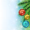 새 해와 크리스마스를위한 축제 배경 | Stock Vector Graphics