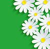 3D 꽃 카모마일, 봄 배경 추상 | Stock Vector Graphics