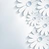 세련 크리 에이 티브 배경, 3d 꽃 카모마일, 벡터 | Stock Vector Graphics