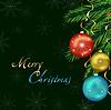 Silvester und Weihnachten Karte, hellen festlichen