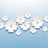 Floral schöne abstrakte Hintergrund mit 3D