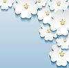 Blau - grau floral abstrakten Hintergrund, 3d Blumen