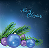 New Year and Christmas card, festive background | 向量插图