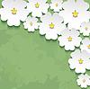 Vintage floral grünen Hintergrund mit 3D-Blume