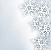 Stilvolle kreative abstrakten Hintergrund, 3d Schneeflocke