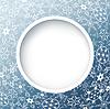 Winter abstrakten Hintergrund mit kunstvollen Schneeflocken