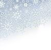 Winter-stilvolle Hintergrund mit Schneeflocken