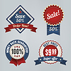 Retro Sale Badges eingestellt | Stock Vektrografik