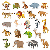 Vector clipart: Africa animals set