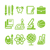 Kolekcja symbol edukacji szkolnej | Stock Vector Graphics
