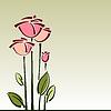 Compra estilizada flor rosas, fondo | Ilustración vectorial