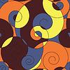 Kolorowy deseń bez szwu spirale | Stock Vector Graphics