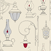 Jahrgang Lampe seamless pattern