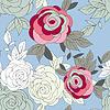 Różowa piwonia kwiat bez szwu deseń | Stock Vector Graphics