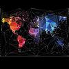 Noc mapa świata z największych miast świata | Stock Vector Graphics