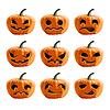 Set pumpkins for Halloween | Stock Vector Graphics
