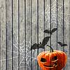 Halloween-Party-Hintergrund mit Kürbis
