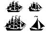Schiffe mit separate bearbeitbare Elemente Set