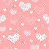 Hellrot Muster mit Herzen