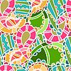 nahtlose Muster mit hellen Gurken