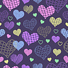 Seamless background with hearts   Stock Vector Graphics