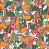 Nahtlose Farbe abstrakten Hintergrund