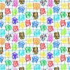 Szwu z kolorowym Scrawl | Stock Vector Graphics