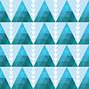 Geometrycznych bez szwu tła z trójkątów | Stock Vector Graphics