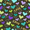 Liebe und Herz. Nahtlose Muster