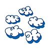 Zestaw ilustracji chmury | Stock Vector Graphics