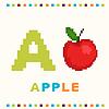 Alfabet dla dzieci, litera A i jabłko samodzielnie | Stock Vector Graphics
