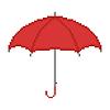 Regenschirm auf weißem Hintergrund
