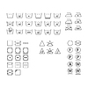 Wäscheservice Symbole.
