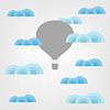 Air Ballon in den Wolken