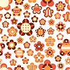 Nahtlose Muster mit großen und kleinen bunten Blumen