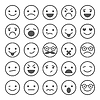 Set of smiley icons: different emotions | Stock Vector Graphics