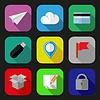 ID 3909169 | Плоские иконки и пиктограммы набор | Иллюстрация большого размера | CLIPARTO