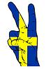 ID 3729355 | Friedenszeichen der schwedischen Flagge | Stock Vektorgrafik | CLIPARTO