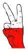 Friedenszeichen der polnischen Flagge