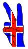 Friedenszeichen der isländischen Flagge