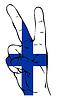 ID 3738696 | Friedenszeichen der finnischen Flagge | Stock Vektorgrafik | CLIPARTO