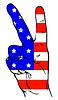 Friedenszeichen der amerikanischen Flagge