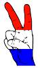 Friedenszeichen der niederländischen Flagge
