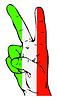 Friedenszeichen der italienischen Flagge