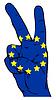 Peace Zeichen der Flagge der Europäischen Union