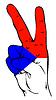 Friedenszeichen der tschechischen Flagge