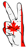 Friedenszeichen der kanadischen Flagge