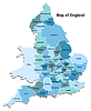 Vector clipart: Map of England